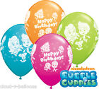 "Bubble Guppies Happy Birthday 11"" Helium Quality Bright Colour Party Balloons"