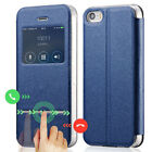 For iPhone 4/4S Smart Sensor Leather Case Front View Window Flip Stand Cover