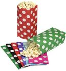 60 SPOTTY POLKA DOT PICK AND N MIX PARTY BAGS - CANDY SWEET BUFFET POPCORN BAG