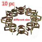 10X Spring Band Type Fuel Hose Clips Pipe Silicone Clamp Low Pressure Air Set UK