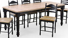 Intercon Hillside Village 7 Piece Dining Room Table: Rectangular Leg Table and 6