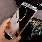 Luxury Bling Ultra-thin Mirror Transparent TPU Soft Gel Phone Case Skin Cover XD