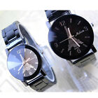 New Arrival Womens Mens Tower Black Dial Watch Stainless Steel Band Wrist Watch