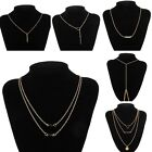 Wholesale Vintage Women Gold Long Chain Multi-Style Elegant Necklace Jewelry