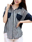 1/2 Sleeves Single Breasted Two Chest Pockets Casual Shirt for Ladies