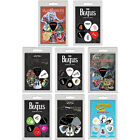 Set Of 6 Album Art Guitar & Bass Plectrums / Picks In Pack Beatles AC/DC Maiden