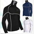 Men's Tight Sport Gym Compression Base Layer Rash Guard Long Sleeve Wetsuit Top