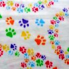 1Pcs Pet Small Medium Large Paw Print Cat Dog Fleece Soft Blanket Beds Mat XGTC