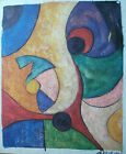 ABSTRACT OIL PAINTING ART ROLLED OR STRETCHED 20X24