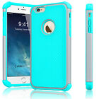 """Rugged Rubber Hard Shockproof Cover Case for iPhone 7 6 6s 4.7"""" /  5.5"""" Plus"""