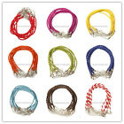 10Pcs/100Pcs Man-made Leather Braid Rope Cords Bracelets For Jewelry Making