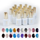 Hot Nail Art Soak-Off UV Gel Polish UV LED Base Top Coat New Colors 15ml