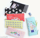 With Alice Rim Slim Pencase Pen Pouch Holder Cosmetic Storage Organizer Box Bag
