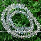 1Strand 4x6mm Crystal Glass Rondelle Loose Beads For Jewelry Color Option #260