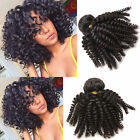 Afro Kinky Curly Natural Black Brazilian Human Hair Extensions Women Hair Wefts