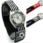 Ravel Boys Girls Watch Kids Soccer Design Velcro Band Red or Black