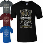 Made in 1981 T-Shirt Born 36th Year Birthday Age Present Vintage Funny Mens Gift