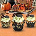 12 Laser Cut Cupcake Wrappers liners HALLOWEEN Party Decoration 3 Desigh New