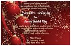 30  50 100 Winter Red CHRISTMAS Ornaments 5X7 WEDDING Invitation Custom