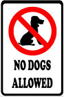 No dogs Allowed Metal Notice Sign