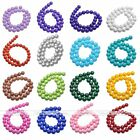 1Strand 4-12mm Opaque Coated Glass Round Ball Loose Bead Finding Making Jewelry