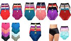 Women's 6 Pack High Waist Cool Various Feel Lace Brief Underwear Panties S-5XL