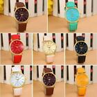 Luxury Unisex Leather Casual Watch Band Analog Quartz Vogue Wrist Watches Gifts