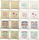 SET OF 2 RoomCraft Cotton Baby Nursery Throw Pillows Covers Cushions - USA Made*
