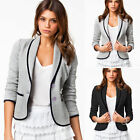 Fashion Women Slim Button Collar Casual Business Blazer Suit Jacket Coat Outwear