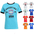 NEW WOMENS MENS ENGLAND ITALY BRAZIL WORLD CUP FOOTBALL SOCCER T-SHIRT SHORT TOP
