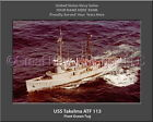 USS Takelma ATF 113 Personalized Canvas Ship Photo Print Navy Veteran Gift