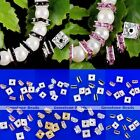 10x Silver Gold Square Rhinestone Charm Loose Spacer European Bead Findings DIY