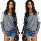 Fashion Women's Loose Long Sleeve Cocktial Casual Blouse Shirt Tops Blouse New