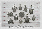 10 pc Silver Turtles / I Love Turtles Charm Pendant Lot Set Collection
