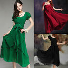 Sexy Lady's Long Maxi Party Evening Dress Chiffon Beach Dresses  Ball Gown New