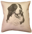 Bernese Mountain Dog MS Cotton Cushion Cover - Cream or White Cover - Gift Item