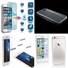crystal clear tv - Ultra Thin Clear Gel Case Cover  + Free Tempered Glass For Mobile Phones
