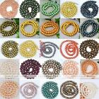 5-9mm Cultured Freshwater Round Luster Pearl Loose Bead Finding Making DIY Gift
