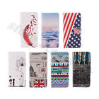 Top Synthetic Leather Media Stand Card Slot Wallet Fitted Case Cover For Phones