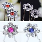10x Crystal Flower Prom Party Wedding Bridal Hairpins Clip Hair Accessories Lots