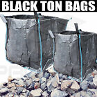 BLACK TON BAG BUILDERS/DUMPY BULK 1 TON/TONNE RUBBLE BAGS WASTE STORAGE BAGS