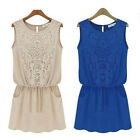 New Women Ladies Fashion Casual Chiffon Dress Evening Cocktail Party Sundress
