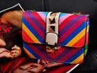 Women Leather Rivet Chain Cross Body All-match Shoulder Bag Tote Rainbow Handbag