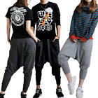 Women Men Casual Baggy Hip-hop Harem Trousers Dance Pants Couple Sweatpants SML