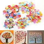 100Pcs Multicolor Sewing Plastic Round Buttons 4 Holes for Kid DIY Crafts L AC