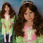 "Masterpiece Sleeping Beauty Brunette by Monika Levenig, 48"" Blue Eyes IN STOCK"