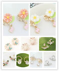 Hot Sell Fashion Elegant Cute More Style Crystal Earrings Stud Charm Jewelry