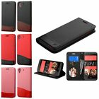 For HTC Desire 626 / 626S Leather Flip Credit Card Wallet Case Cover Pouch Stand