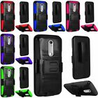 For Motorola Moto X Style Pure Edition Hybrid Stand Belt Clip Holster Cover Case
