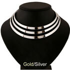 Multilayer Jewelry Retro Chunky Statement Bib Pendant Chain Choker Necklace